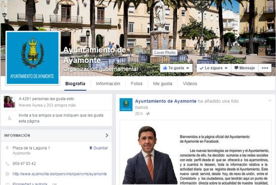 El Ayuntamiento de Ayamonte ya tiene facebook
