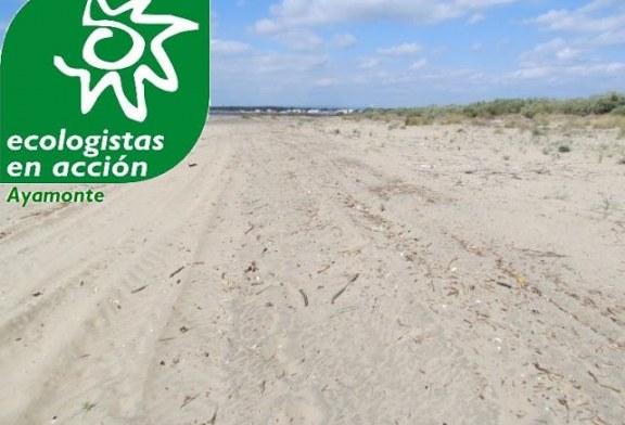 """Según Ecologistas en Acción de Ayamonte """"Cambiar arena de sitio no es regenerar una playa, es tirar dinero público"""""""