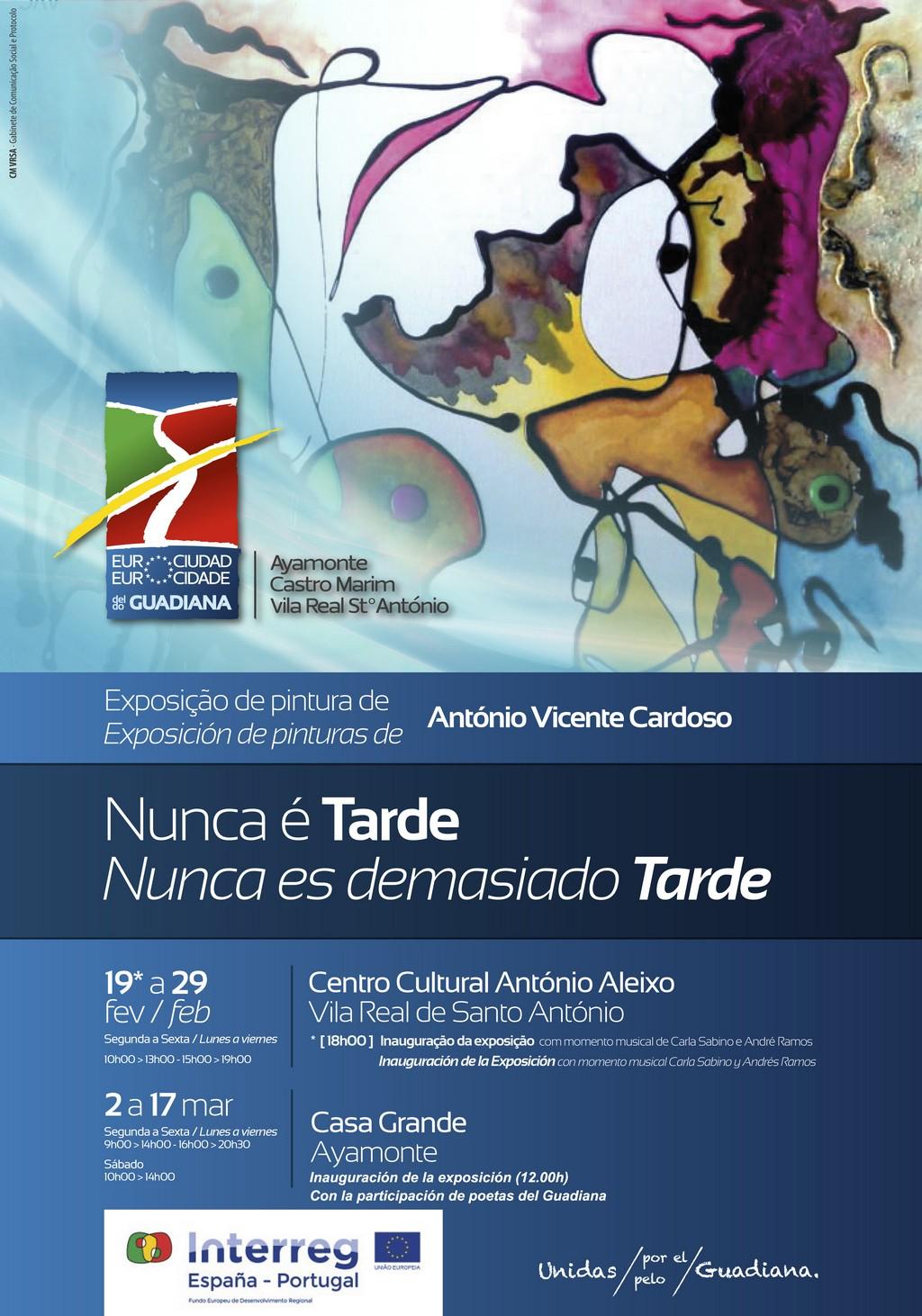 Exposición de pinturas de António Vicente Cardoso