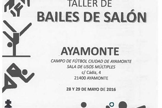 AYAMONTE ACOGERÁ UN TALLER DE BAILES DE SALÓN PARA PROFESIONALES DEL DEPORTE Y LA ACTIVIDAD FÍSICA