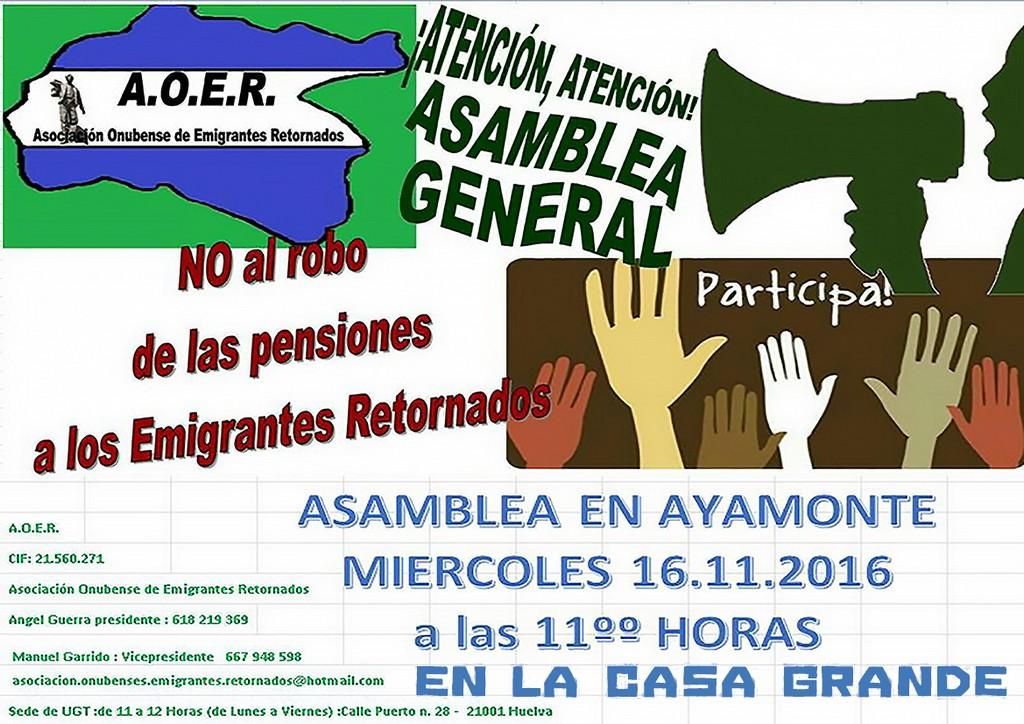 Charla Informativa de La Asociación Onubense de Emigrantes Retornados (AOER)