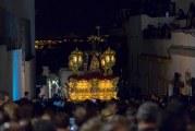 LA PROCESIÓN DE LA HERMANDAD DE JESÚS CAÍDO DIO PASO A LA MADRUGÁ AYAMONTINA
