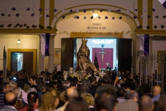 IMPRESIONANTE RECIBIMIENTO DE LOS VECINOS DEL SALÓN DE SANTA GADEA A LA PATRONA DE LOS AYAMONTINOS