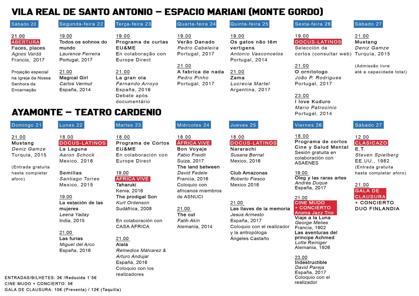 ESTE SÁBADO COMIENZA EN AYAMONTE LA III MUESTRA INTERNACIONAL DE CINE FRONTEIRAS