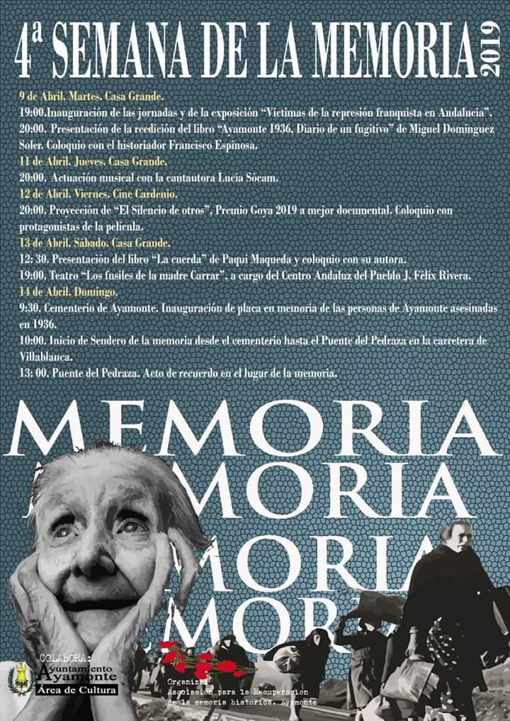 4ª Jornadas sobre Memoria Histórica